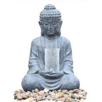Wholesale Cyan Stone Sitting Buddha Water Fountain For Home / Asian Water Fountains from china suppliers