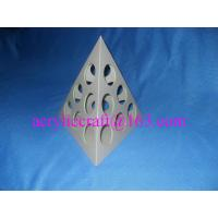Wholesale Roating pyramid-shaped acrylic coffee capsule display holder from china suppliers