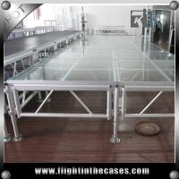Wholesale Acrylic stage platform concert stage birthday stage decorations stage riser folding leg from china suppliers