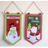 Wholesale Merry Christmas  hanging flag from china suppliers