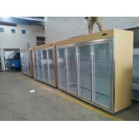 Wholesale Gold Cool Storage Room Glass Display Fridge For Beverage And Milk from china suppliers