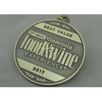 Wholesale Wine Die Cast Medals , 3D Zinc Alloy Awards Medals Antique Bronze Color from china suppliers