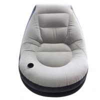 Quality Flocking Inflatable Lazy Sofa Inflatable Chair Sofa Bed With Pedal Inflatable for sale