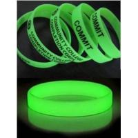 Wholesale Glow Silicone Bracelet from china suppliers