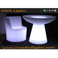 Wholesale 2Round rechargeble Modern PE Plastic Mushroom LED Bar Table / LED Bar Furniture from china suppliers