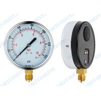 "Wholesale 4"" General pressure gauge with three screw in the case and chrome bezel from china suppliers"