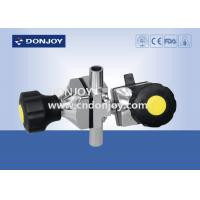 """Wholesale 1/2"""" Manual Welding 3 way diaphragm valve T port for Dairy Products from china suppliers"""