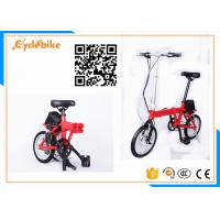 Wholesale Popular 14 Inch Electric Folding Bike / Folding Electric Bicycles Aluminum Alloy Frame Material from china suppliers
