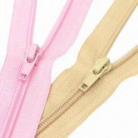 Wholesale Number 5 Nylon Zipper, Open End Auto-lock Slider from china suppliers