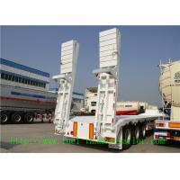 Buy cheap Custom 3 Axle 50T lowbed semi trailer for D8 bulldozer transport from wholesalers