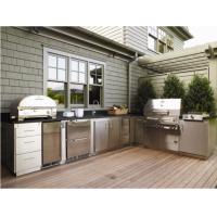 Buy cheap 304 Stainless Steel Kitchen Cabinets Anti - Scratches Customized Outdoor Bbq Kitchen from wholesalers