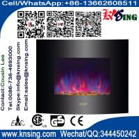 Wholesale Wall Mount Electric Fireplace Heater Curved front pebbles flame EF453S/EF453SL/EF453SLB stone base stand room heater from china suppliers