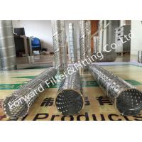 Wholesale stainless steel 304 metal punching pipe filter cartridge with punching support tube spiral tube from china suppliers