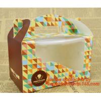 Wholesale Custom cheap wholesale food grade paper cardboard cake box with handle from china suppliers