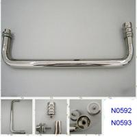Wholesale SUS304 Polished Chrome shower handle / glass door handle N0592 N0593 from china suppliers