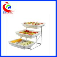 Wholesale Ceramics cafeteria showcase Buffet Restaurant Equipment for fruits and vegetable display shelf from china suppliers