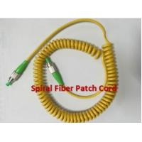 Quality Simplex Multimode OM2 PU Spiral Fiber Optic Patch Cord LC - SC 50 / 125 for sale