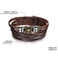 Wholesale Buy fashion jewelry Womens Fashion Vintage Anchors Rudder Rectangle Leather Bracelet  BR38 from china suppliers