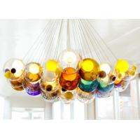 Wholesale Creative Double Glass Cover Hanging Ceiling Lights LED G9 Colorful Pendant Lamp from china suppliers