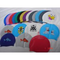 Buy cheap silicone swim cap, silicone swimming hat, silicone bath cap from wholesalers