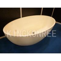 Wholesale Corian Artificial Marble Oval Bathtub from china suppliers