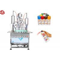 Wholesale Semi Automatic Aerosol Spray Paint Filling Machine Pneumatic Power from china suppliers
