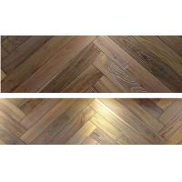 Wholesale wire brushed surface oak herringbone parquet flooring from china suppliers