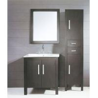 Wholesale 80 X 48 X 85 / cm dark grey Ceramic Bathroom Vanity freestanding square type from china suppliers