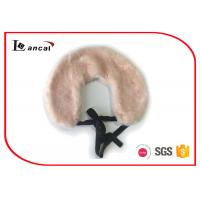 Wholesale 100% Modacrylic Short Faux Fur Scarf With Tie , Pink Faux Fur Neck Scarf from china suppliers