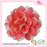 Wholesale Charming Red Chiffon ribbon Handmade fabric flowers OEM / ODE Accepted from china suppliers