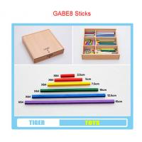 Wholesale pre school professional froebel gifts wooden educational toys froebel GABE 8 sticks from china suppliers