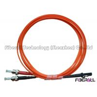 Wholesale Dual Core MTRJ To ST Fiber Optic Jumper Cables With Multimode Orange Optical Cable from china suppliers
