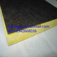 Wholesale Fiberglass wool board with black backing felt on one side from china suppliers