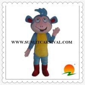 China boot the monkey mascot costume,dora the explore mascot costume on sale