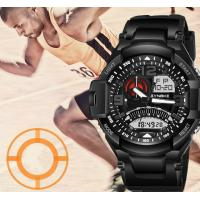 Wholesale Wholesale Synoke Men Dual time Pu Strap Multifunction Chronograph 5 ATM Waterproof Outdoor Sport Watches 67876 from china suppliers