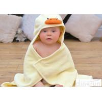 Wholesale Cute Duck Bath Towel , Kids Baby Bath Towel With Hood Various Colors from china suppliers