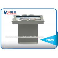 Wholesale White Color LCD Panel Self Service Library Kiosk , Library Self Checkout Kiosk Machines from china suppliers
