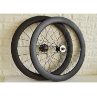 Wholesale Clincher tubular carbon track bike wheels 60mm 88mm disc wheelset from china suppliers