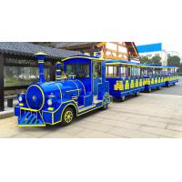 China 62 Seats Electric Trackless Train Trackless / Outdoor Tourist Train with Lithium Battery on sale