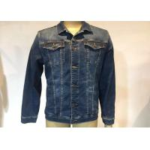 China Indigo Trucker Cotton Mens Denim Jacket And Jeans , Slim Fit Denim Jacket Fashion for sale