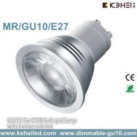 Wholesale Dimmable 5W GU10 COB spotlight with 60° Beam angle 110-220V from china suppliers