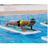 Wholesale Color Customized Inflatable Tumbling Mat , Inflatable Yoga Mat For Groud / Water from china suppliers