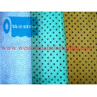 Buy cheap Nonwoven wiper fabric of spunlaced non wovens wipes spun lace wypall similar from wholesalers