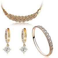 Wholesale High-Grade Jewelry Accessories Set Necklace Bracelet Zircon Earring from china suppliers