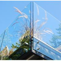 Wholesale Balustrade  Balcony Tempered Glass Panel Easy Cleaning 12mm Safety from china suppliers