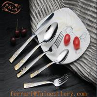 Wholesale Wholesale Personalized Melon Bud Gold Flatware Set Rental from china suppliers