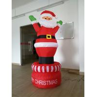 Wholesale 190D Oxford Red And White Inflatable Santa Claus  For Christmas Day from china suppliers