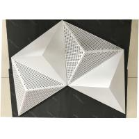 Wholesale Powder Coat Pearl White Commercial Ceiling Tiles , 3D Triangle Clip Floating Ceiling Tiles from china suppliers