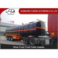 Wholesale 45000 Liters transport asphalt tanker semi trailer with insulating layer from china suppliers