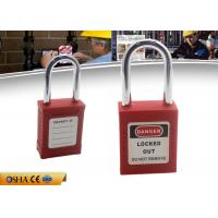 Wholesale ZC-G01 Red Short Shackle Safety Lockout Padlock , ABS Body Steel Shackle from china suppliers